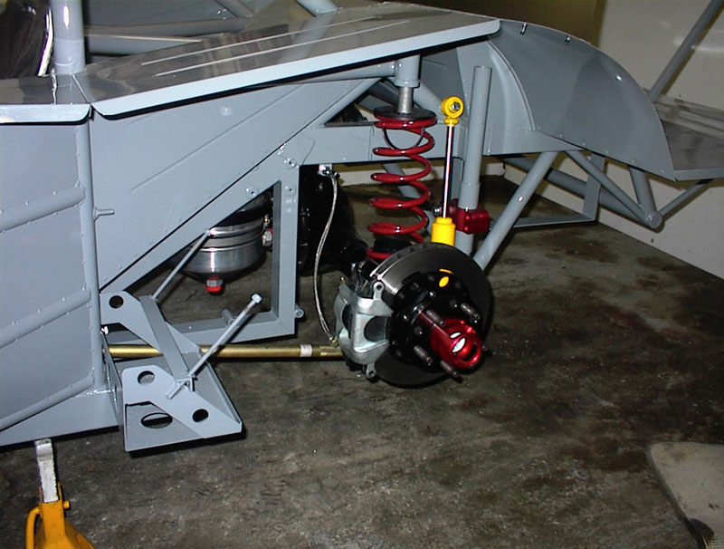 drivers side rear suspension detail