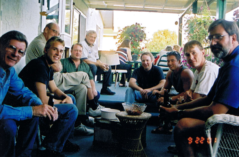 Darren Turner's team members and close supporters get together late Sept 2001
