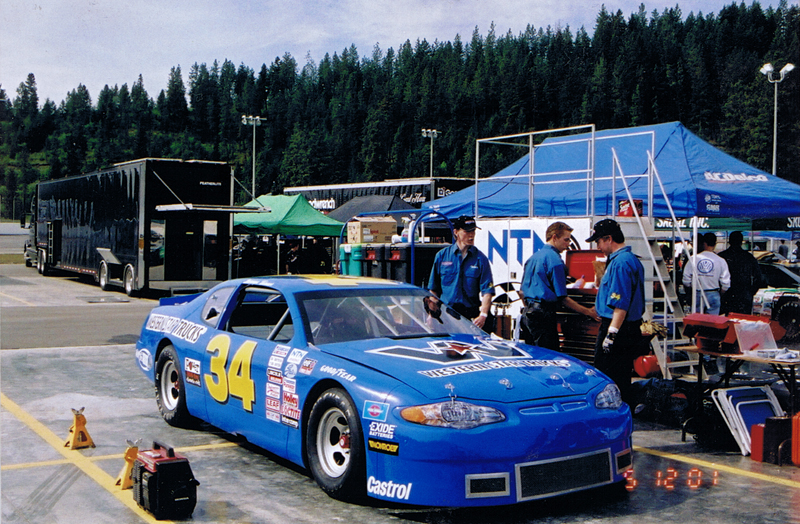 Turner Racing 2001 Chev Monte Carlo in the SunValley Speedway pits for a CASCAR race