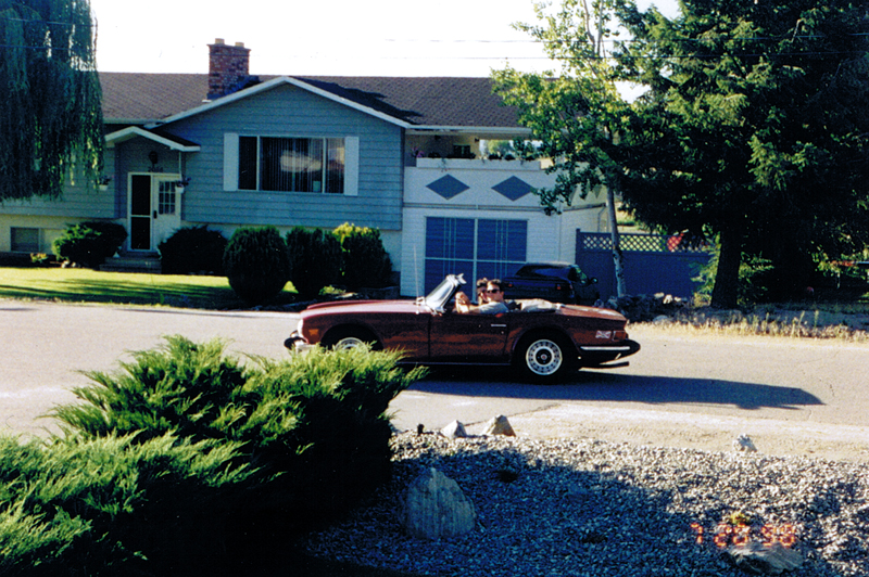 Darren and Margo enjoying summer in the TR6 convertible