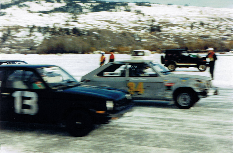 Side by side ice racing gets underway