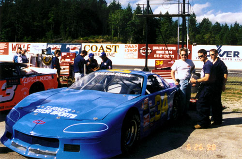 Roy Cobden, Craig Banks, Quinn Griesdale in the Western Speedway pits June 1998